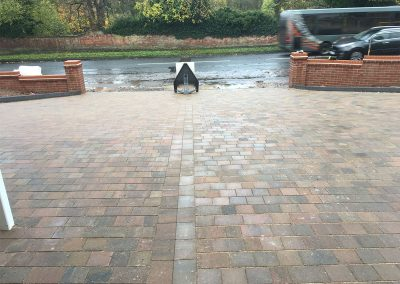 completed block paved driveway in birmingham